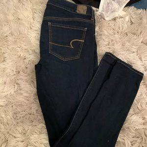 Dark blue jean jegging x long